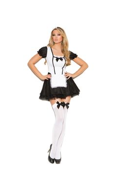 Costume Sexy, Sexy Halloween Costumes, Maid Halloween, Women Halloween, Funny Halloween, Black And White Two Piece, Black White, Color Black, Sexy Lingerie