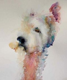 Jean Haines................................................... I don't have to paint the whole dog, just get the soul of her on canvas.