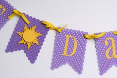 Best Day Ever banner Tangled inspired banner Rapunzel banner princess banner