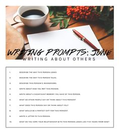 10 writing prompts for June: writing about other people