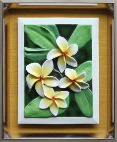 Frangipani - 3D Porcelain Painting Porcelain, 3d, Frame, Painting, Home Decor, Picture Frame, Porcelain Ceramics, Decoration Home, Room Decor