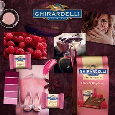 I created my own monogrammed Dark and Raspberry Ghirardelli Squares® Chocolate.