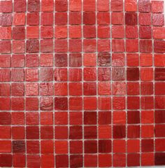 Mineral Tiles - Recycled Glass Tile Red 1x1, $17.95 (http://www.mineraltiles.com/recycled-glass-tile-red-1x1/)
