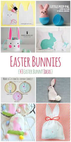 43 Easter Bunny Ideas - Lots of Easter Bunnies! #easter #bunny #easterbunny #bunnies