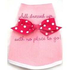 All Dressed Up With No Place to Go! Pet Tank - EXTRA-EXTRA SMALL (XXS) by I SEE SPOT