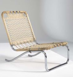 Jacobus Johannes Pieter Oud; Chromed Tubular Steel and Cord Chair for Metz & Co., 1933.