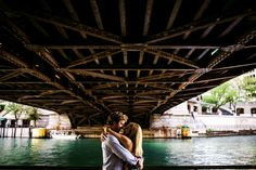 Chicago River engagement session by Allison Williams Photography
