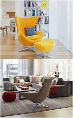 Different types of accent egg chairs #eggchair #chair #livingroomcolor
