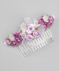 Take a look at this Lilac Floral Comb by Kid's Dream on #zulily today! Would look beautiful in little girls hair!