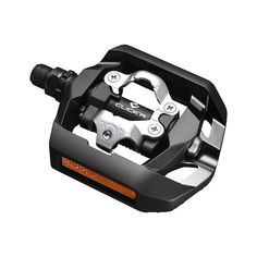 These lightweight, versatile Shimano pedals feature SPD-compatible clipless bindings on one side and a flat platform surface on the other so you can wear them with or without cleated bike shoes. Mtb Pedals, Bicycle Pedals, Velo Fitness, Park Tool, Online Bike Store, Power Wheels, Bike Shoes, Concave, Fishing Reels