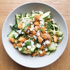 Butter Bean, Courgette and Feta Salad!