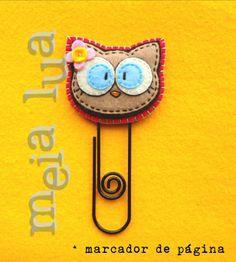 marcador de página em feltro / felt bookmark