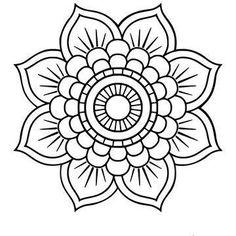 Mini Mandala, Mandala Art Lesson, Easy Mandala Drawing, Simple Mandala Tattoo, Mandala Coloring Pages, Simple Coloring Pages, Mandala Pattern, Mosaic Patterns, Coloring Books