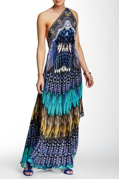Convertible Printed Maxi Dress