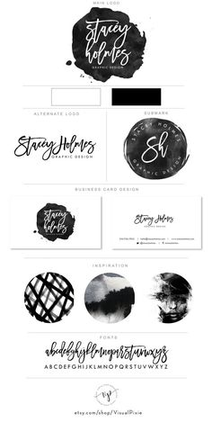 PREMIUM Branding Package- Logos & Business Card Design Black Watercolor Circle – Calligraphy Minimalist Photography Hair Salon Business Logo PREMIUM Branding Package Logos & Business Card by VisualPixie Coperate Design, Design Logo, Custom Logo Design, Design Cars, Design Ideas, Circle Design, Modern Design, Watercolor Circles, Watercolor Logo