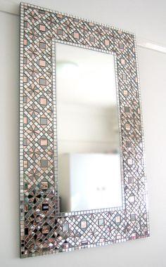 Autumn Sprinkles mosaic mirror frame by Mirror Envy. Mirror Mosaic, Mirror Art, Mosaic Wall, Mosaic Glass, Mosaic Tiles, Mirror Tiles, Fused Glass, Mosaics, Mosaic Crafts