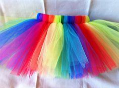 DIY - Make a rainbow party tutu for the birthday girl
