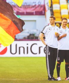 Benedikt Howedes and Manuel Neuer