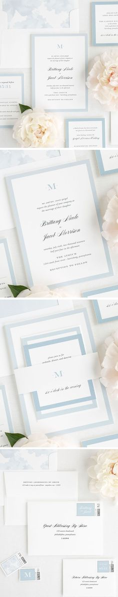 Brand your wedding day with this modern monogram! Keep your wedding stationery consistent from save the dates to place cards with a monogram customized to your initial(s). Our Upscale Monogram design not only offers a monogram, but has delicate script and