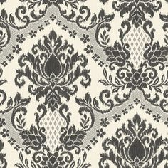 allen   roth�Black Strippable Non-Woven Paper Prepasted Wallpaper