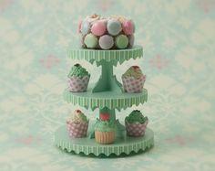 Miniature Dessert Tower Kit: Vintage Green Color