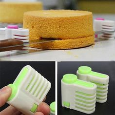 1 pc 5 Layers Bread Slicer Kitchen Gadgets Cake Bread Cutter Baking Tools For Cakes Toast Slicer Bakeware Bolo Diy, Cake Leveler, Cake Slicer, Cuisines Diy, Tool Cake, Cake Cutters, New Cake, Bread Cake, Baking And Pastry