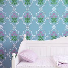 Rug inspiration: Allover Trellis & Lotus Flower Stencil Set by Royal Design Studio Stencils