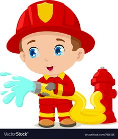 Cartoon fireman PNG and Vector Fireman Cake, Fireman Party, Color Worksheets For Preschool, Puppets For Kids, Cartoon Eyes, Animal Crafts For Kids, Fire Art, Birthday Balloons, Fire Trucks