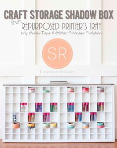 Great use for a printer's tray! Keep track of those small craft supplies
