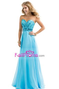 2015 Blue Prom Dresses A Line Sweetheart Floor Length Chiffon Ship Today Under  200