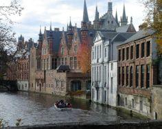 Bruges canal boat, Netherlands