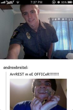 Only pinning it because of that super hot officer! ;)