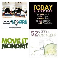 Good Morning #fitfam!  A fresh new week is upon us and I pray you have great success!  So many things happening: 1. Heart Month #Giveaway starts tomorrow. More info coming.  2. Starting Wk 2 of #52SmallChanges - emphasis on sleep  3. Restarted #DDPYoga Wk 3. #lowerbackpain has improved. #lowinpactexercise #yoga  4. Last but not least it's #MoveItMonday!  #fitmom = #fitfam #healthiswealth #healthyliving #weightloss #lifestylechange #lifeonpurpose #winning #wegotthis