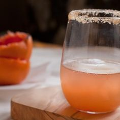 Broiled Honey and Brown Sugar Grapefruit Cocktail Spritzer. It