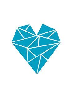 Heart of Triangles - A4 print | Felt