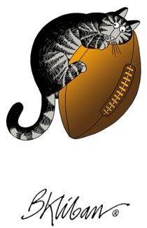 Football Cat by B. Kliban