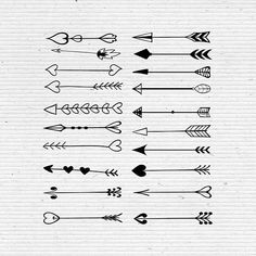Hand-Drawn Arrows, Digital Cliparts and Vectors in jpg, png, and eps format affiliate link