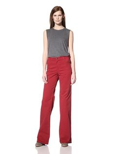 51% OFF Surface To Air Women\'s High-Waist Flared Jeans (Garment Dye Dark Red)