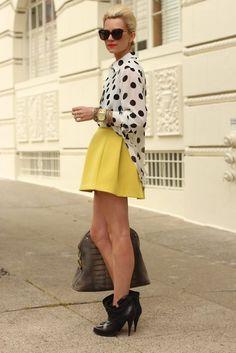 Blouse: MinkPink. Skirt: ASOS. Blazer: Zara. Boots: Givenchy.