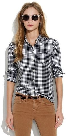 Checkered Plaid shirt: Casual