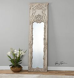Buy Tall Victorian Ornate Ivory Mirror   Oversize Wall, Floor or Leaner - Topvintagestyle.com ✓ FREE DELIVERY possible on eligible purchases