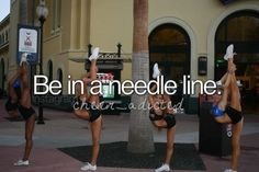 Bucket list: cheer version