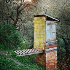 A composting toilet, Sierra Nevada, Spain, 2013