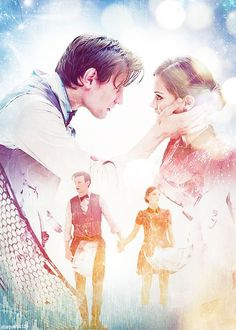 The 11th Doctor and Clara.