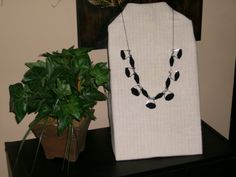 Black Denim Necklace by 1View on Etsy, $16.99