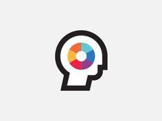 Colorhead designed by Justin Pervorse. Connect with them on Dribbble; E Design, Icon Design, Graphic Design, Phrenology Head, Data Logo, Profile Logo, Pictogram, Chicago Cubs Logo, Cool Designs