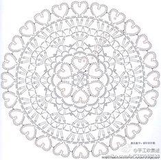 petit napperon coeurs au crochet   pattern