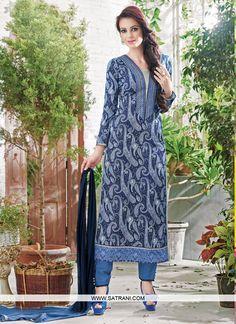 New Arrival Blue Printed Straight Cut Party Wear Unstitched Salwar Suit Salwar Dress, Pakistani Salwar Kameez, Salwar Suits, Kurti, Patiala, Party Wear Dresses, Party Wear Sarees, Pakistani Outfits, Indian Outfits