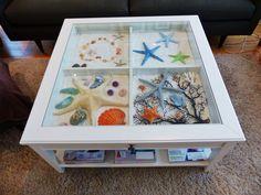 I love my IKEA table . . . So many possibilities for my seashells!