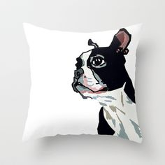 French Bulldog Sketch Throw Pillow by Evelyn McCorristin Peters - $20.00